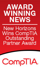 Mew Horizons awarded CompTIA Outstanding Partner award